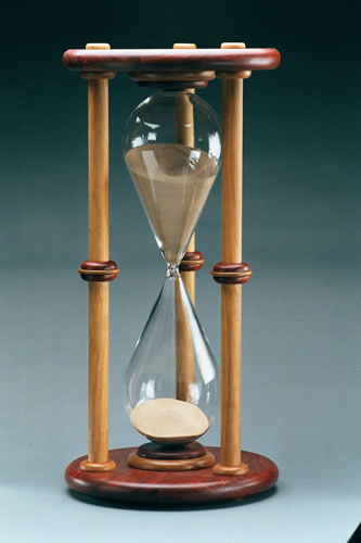 "Empty Unmounted Hourglass - 24.0"" High"